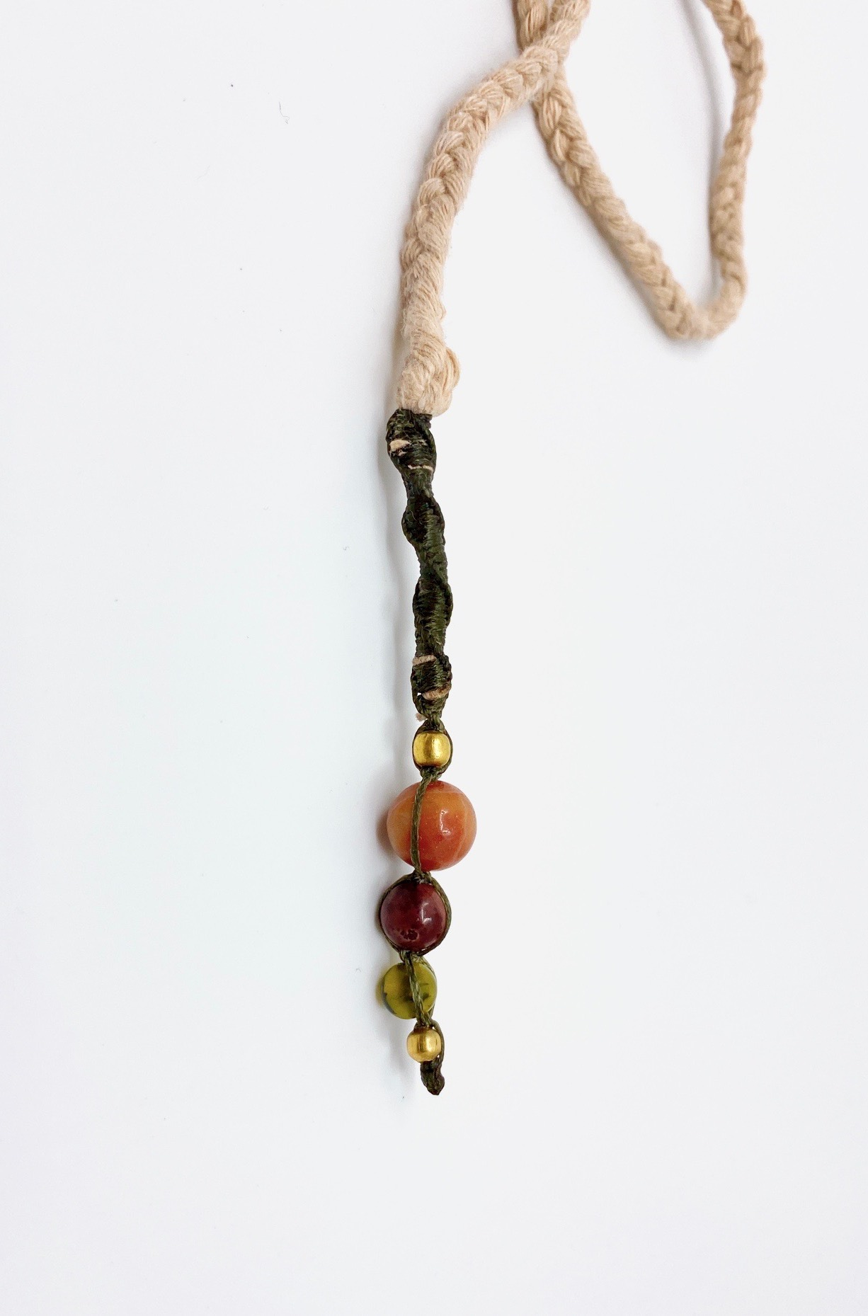 Hippie style long macrame necklace - CALA GONONE