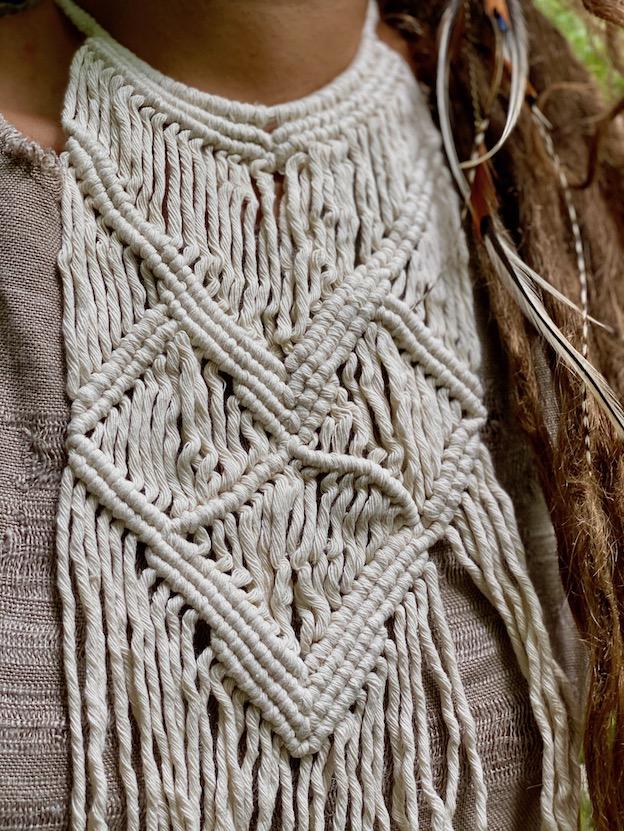 Macramé choker necklace - BAUNEI