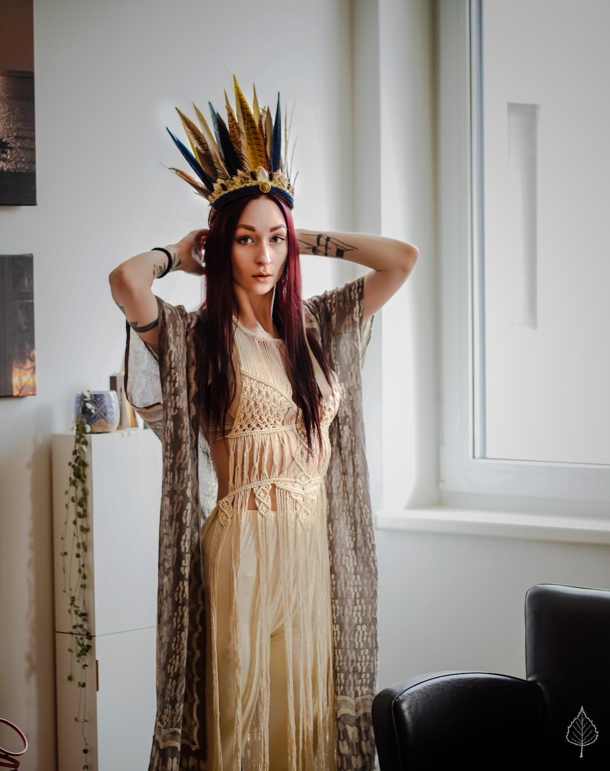 Macramé goddess dress - ISHTAR